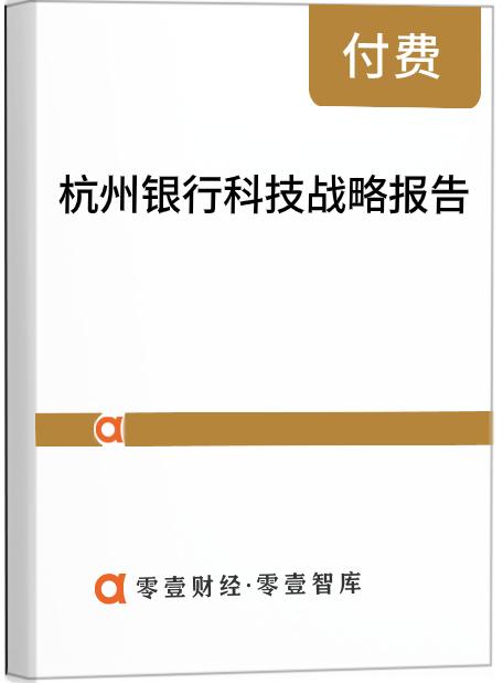 杭州银行科技战略报告