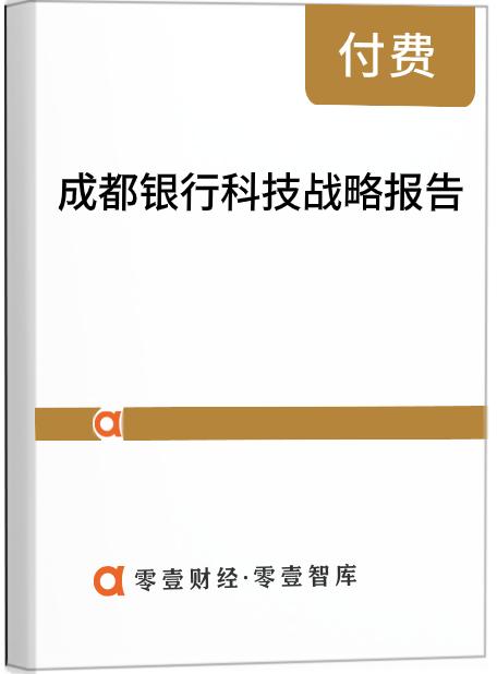 成都银行科技战略报告