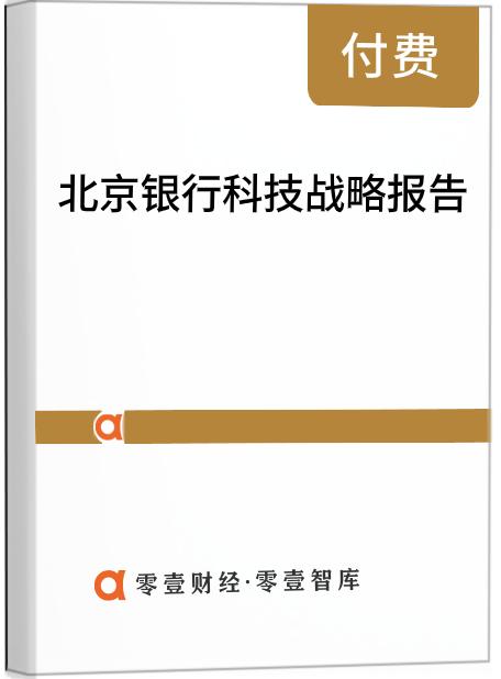 北京银行科技战略报告