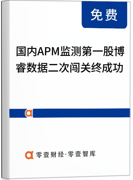 国内APM监测第一股,博睿数据二次闯关终成功