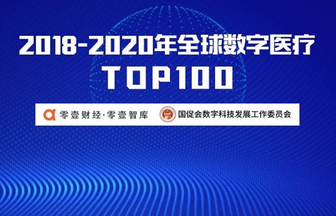 2018-2020年全球数字医疗专利TOP100:31家中国公司上榜 平安集团排名全球第一