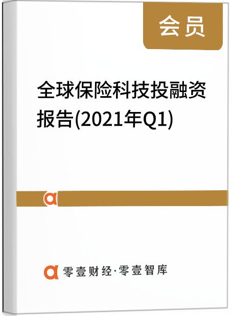 全球保险科技投融资报告(2021年Q1):融资总额超百亿,3家公司跻身独角兽