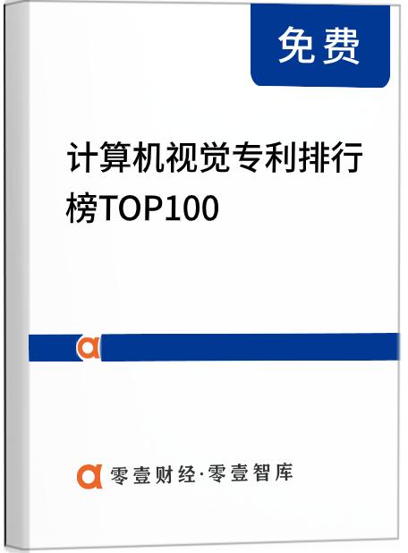 计算机视觉专利排行榜TOP100(2021)